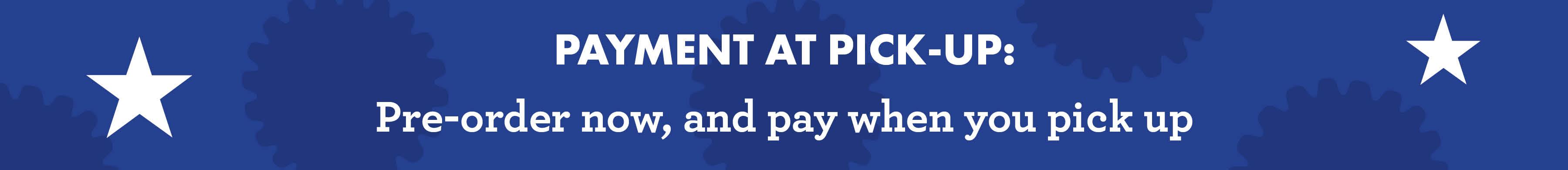 web pay at pickup