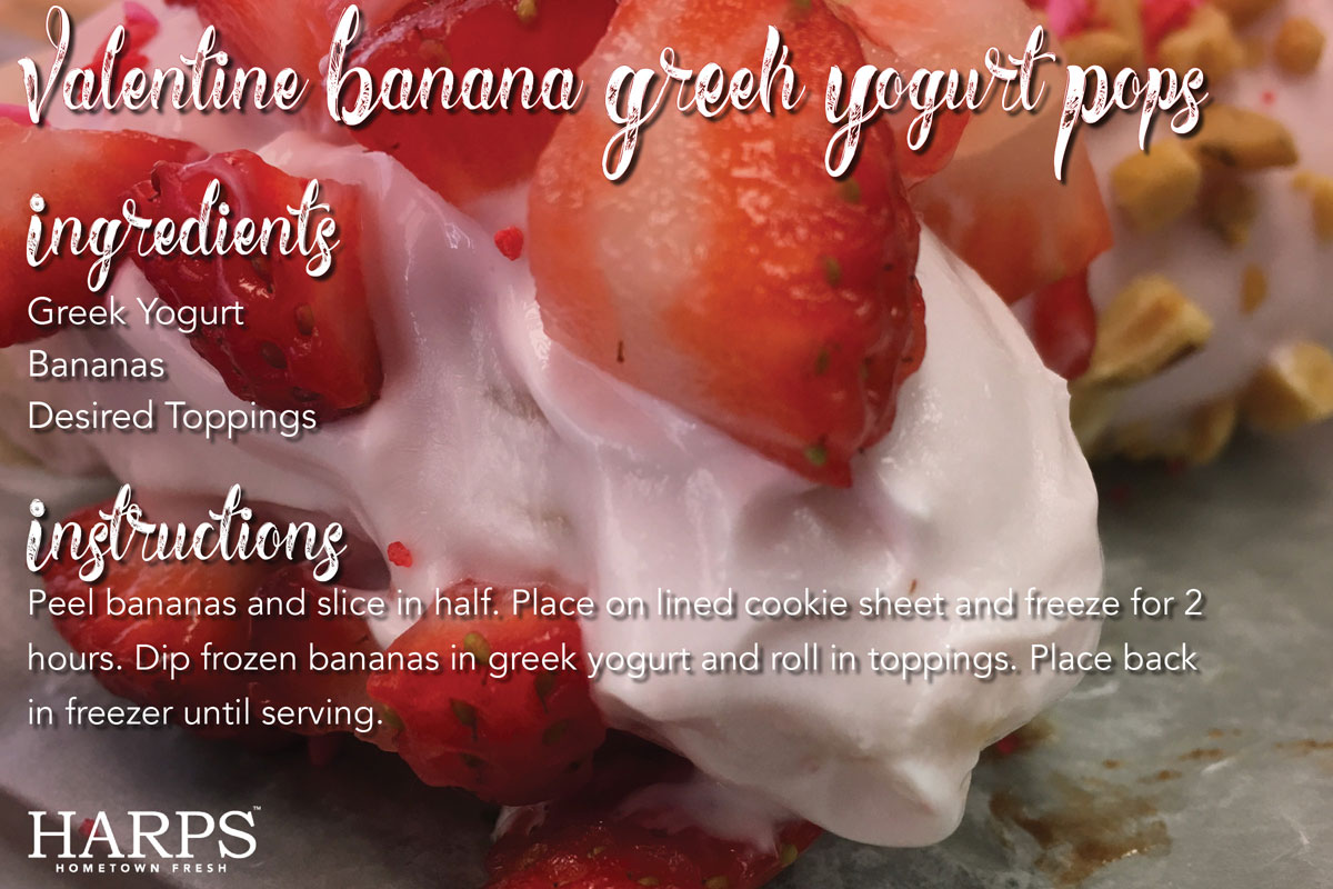 Valentine Banana Greek Yogurt Pops