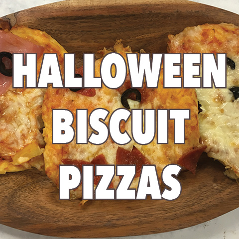 Halloween Biscuit Pizzas