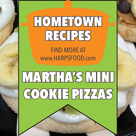Martha's Mini Cookie Pizzas