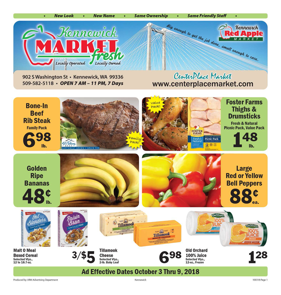Kennewick Red Apple Market Weekly Specials Page 1 10 25 2017 Is The Big 3 Upgrade Good Enough