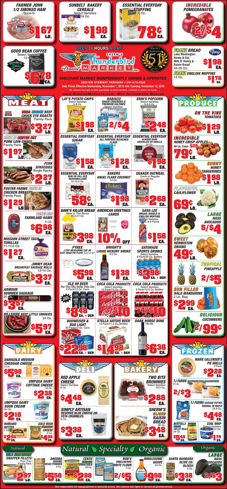 Sherms Thunderbird Market Inc For Store 47865