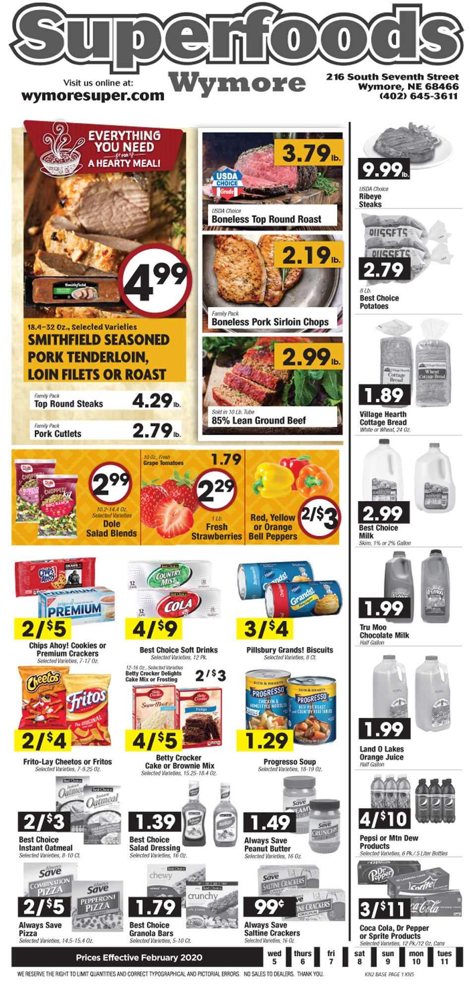 Wymore Super Foods Weekly Specials Page 1 06 06 2018