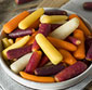 Picture of Organic Rainbow Baby Peeled Carrots