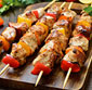 Picture of Homemade Gourmet Chicken Kabobs with Veggies